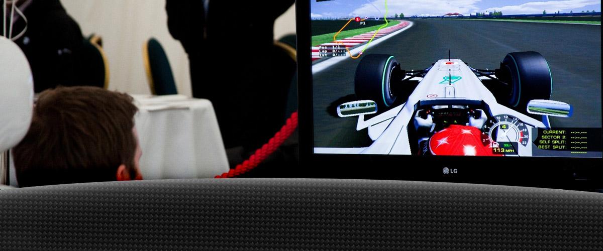 F1 simulator in action